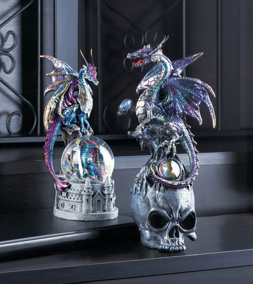 mystical dragon and skull