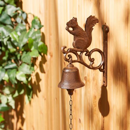 squirrel cast iron bell