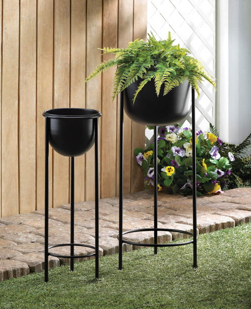 bucket plant stand