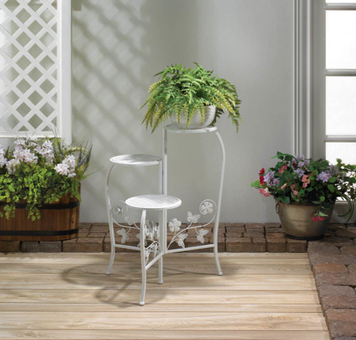 butterfly three tier plant stand