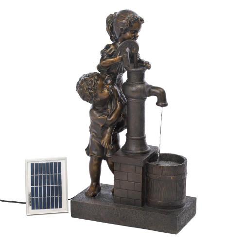 teamwork solar fountain