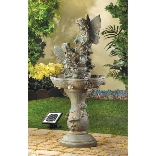 fairy solar water garden fountain
