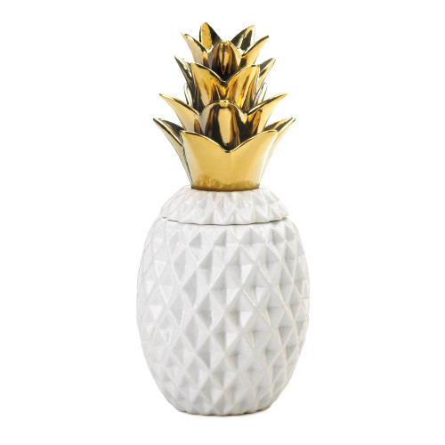 gold topped pineapple jar