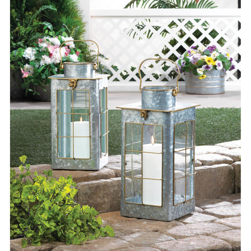 farmhouse galvanized lanterns