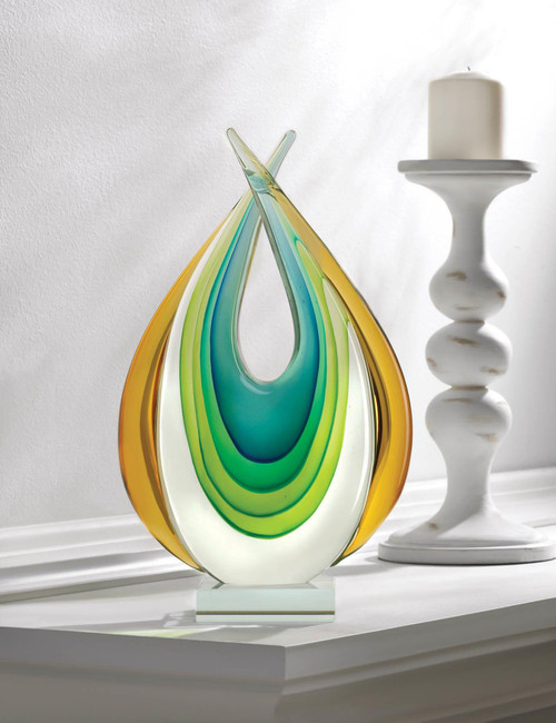 art glass statue