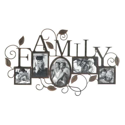 family 5 photo wall frame