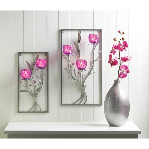 magenta wall sconces
