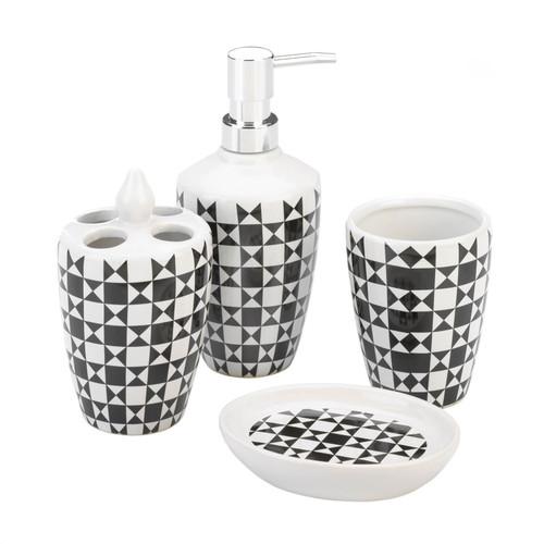 geometric pattern bath set