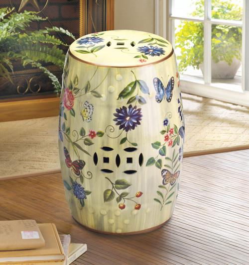 butterfly garden stool