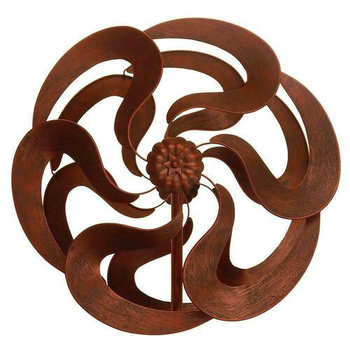 Modern Art Dual Spinner Bronze Heavy Duty Windmill Stake