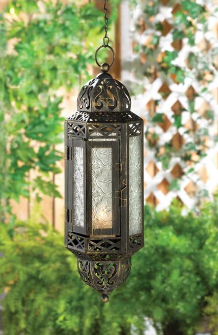 victorian hanging candle lantern