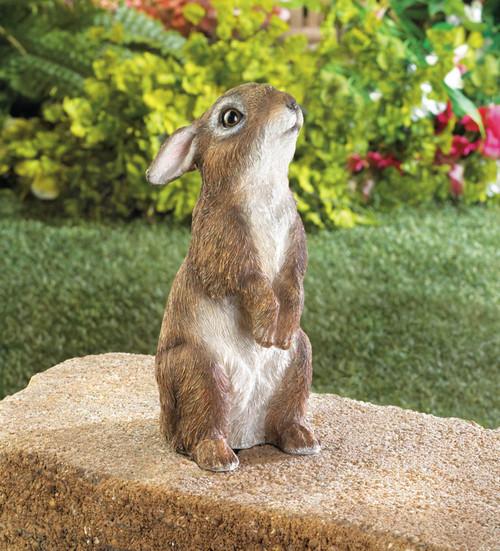 standing bunny garden decor