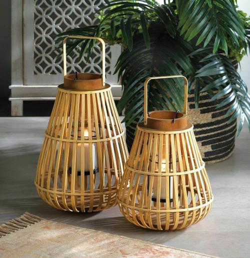 slat wooden lanterns