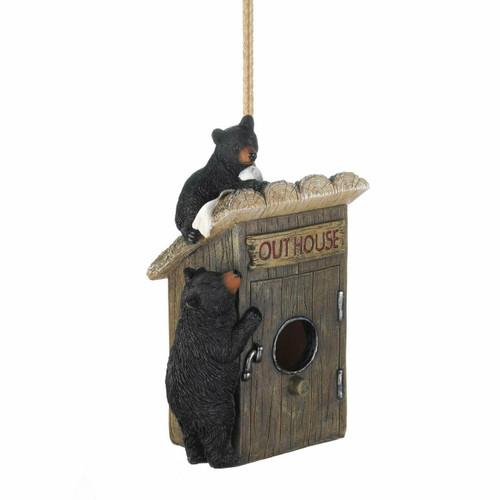 bear outhouse birdhouse