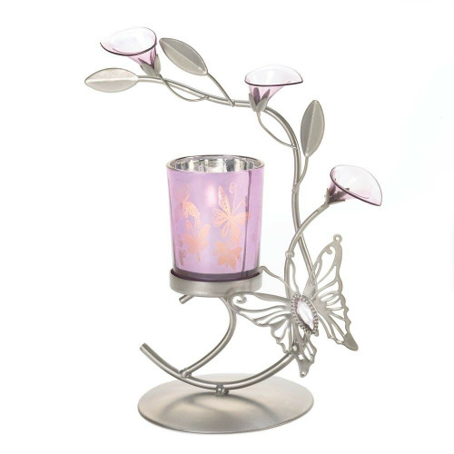 butterfly lily candleholder