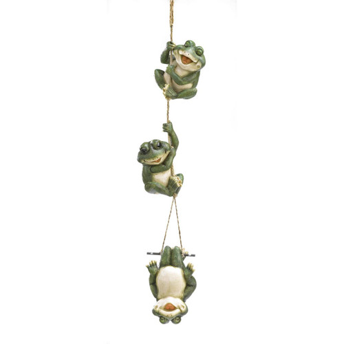 frolicking frogs hanging decoration
