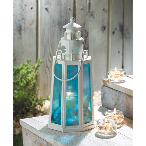 ocean blue lighthouse lantern