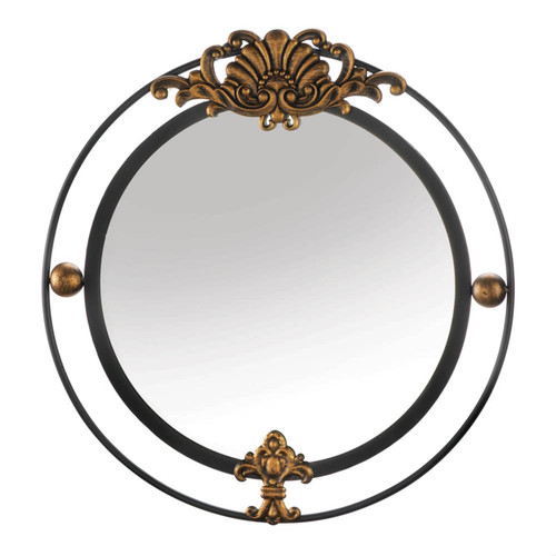 regal wall mirror with gold accents