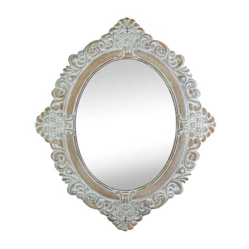vintage amelia taupe wall mirror