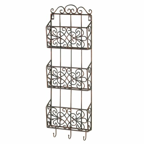vintage charm triple wall rack
