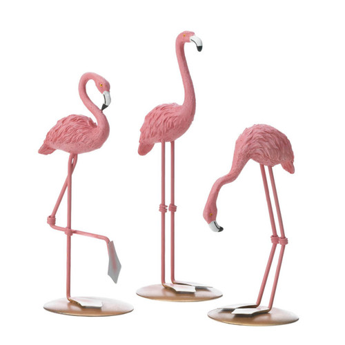 tabletop flamingo trio