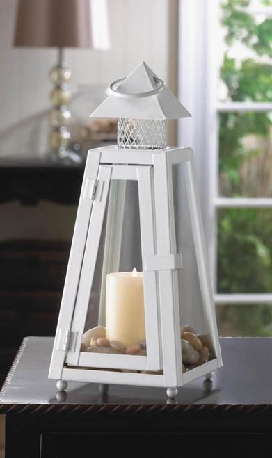 summit white candle lantern