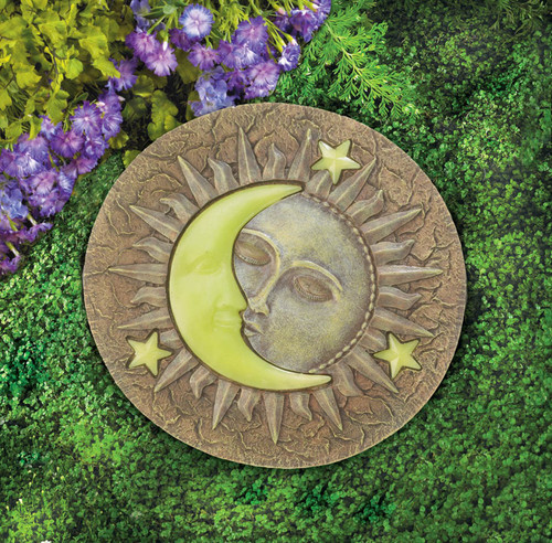sun and moon glowing stepping stone