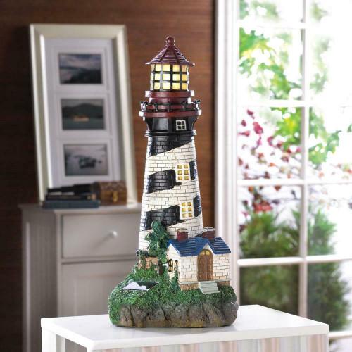 solar powered lighthouse decoration