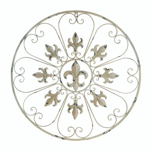 Circular Fleur De Lis Wall Decor