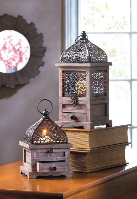 flip top wooden lanterns