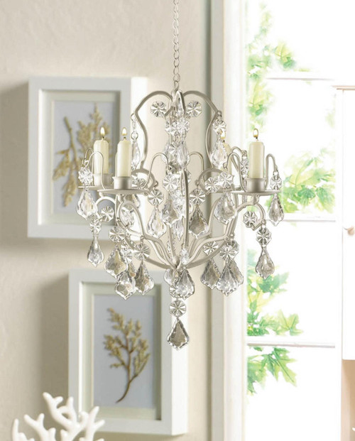 ivory barogue chandelier