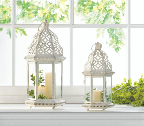 sublime distressed white lanterns