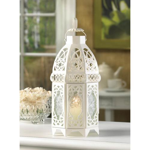 white romantic bird cage lattice lantern