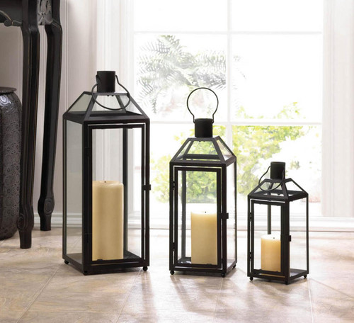 midtown chic black lanterns