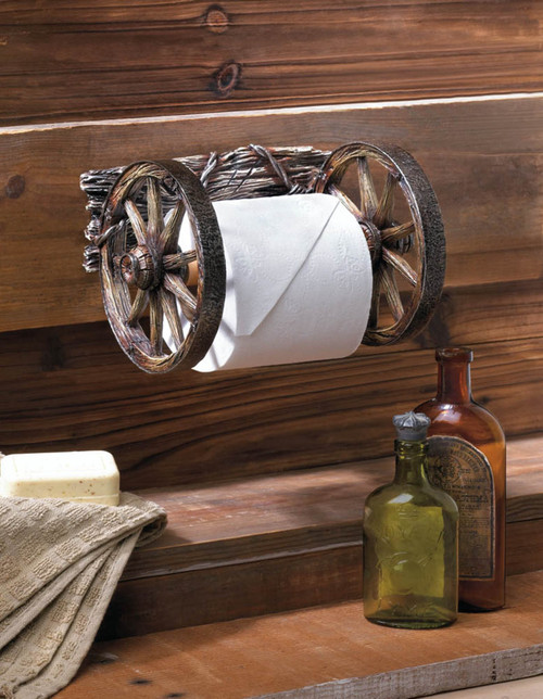 wagon wheel toilet paper holder