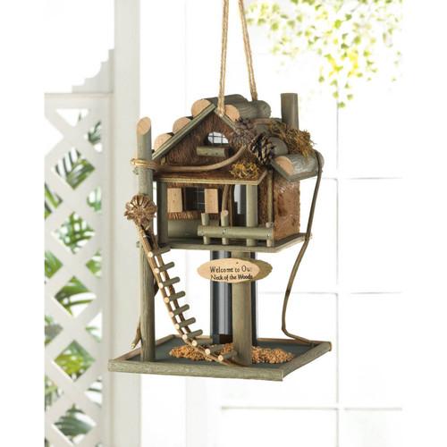 tree house bird feeder