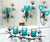 turquoise candle cups and wall sconces