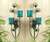 peacock plume wall sconces