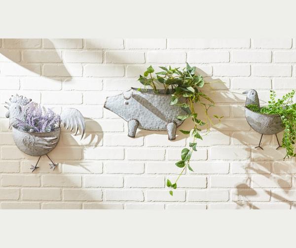 Galvanized Wall Planters