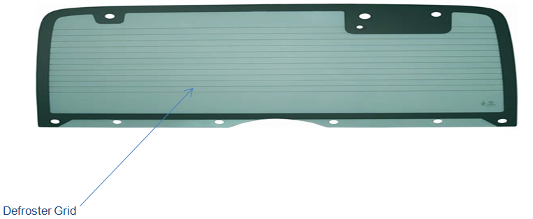 Windshield defogger strip