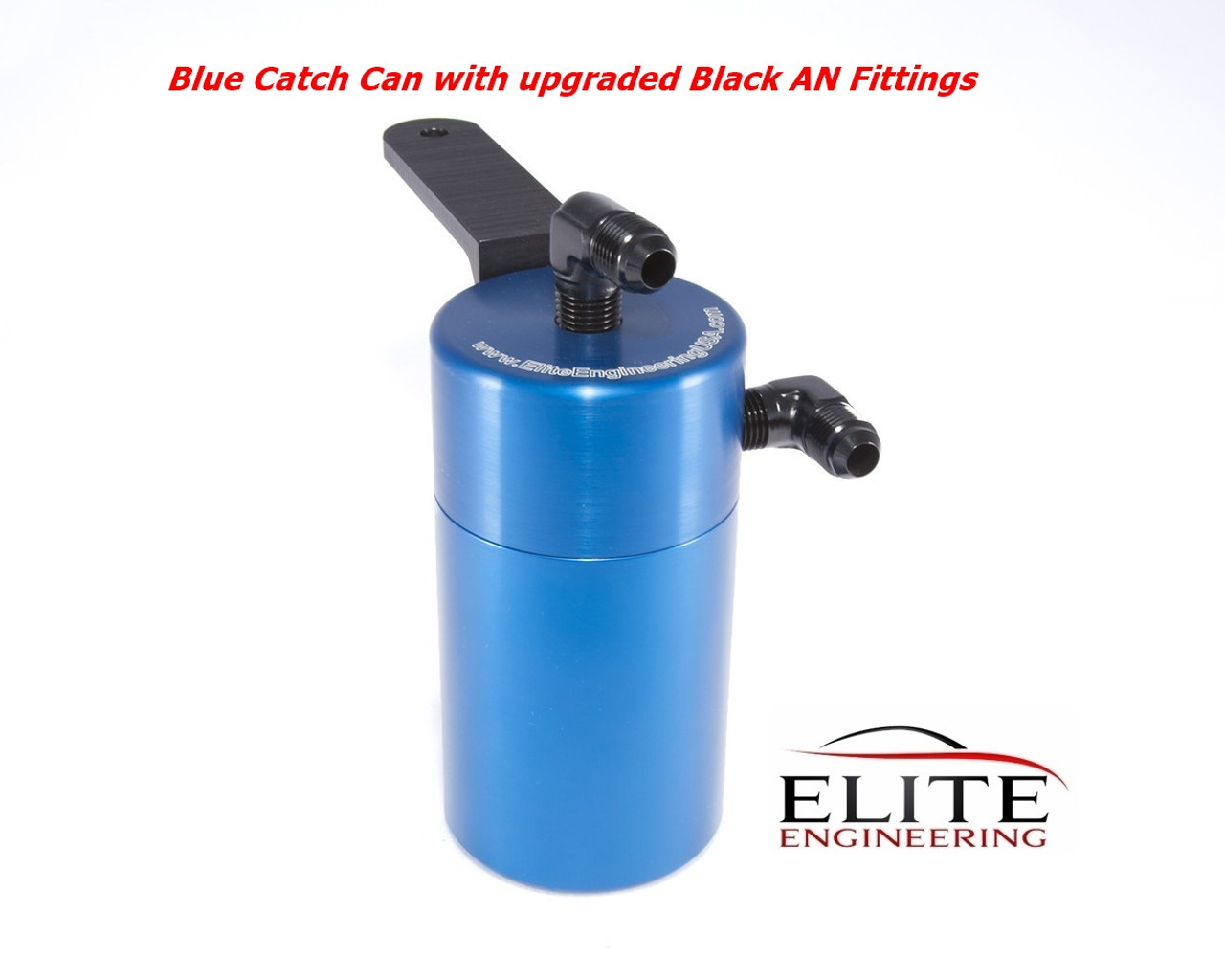 Elite Engineering Standard PCV Oil Catch Can /& Hardware with Black AN Fittings for 2008-2013 Corvette LS3 RED