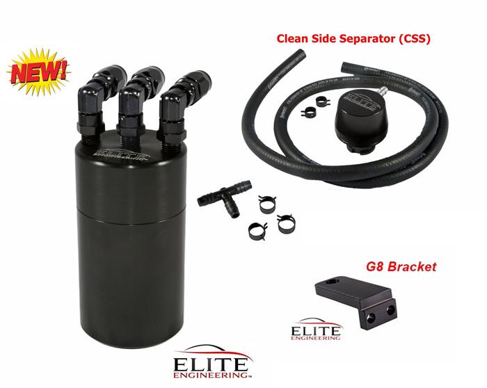 """Best"" - Elite E2 Catch Can - 2014+ Corvette Stingray w/ Clean-Side Separator and Check Valves"