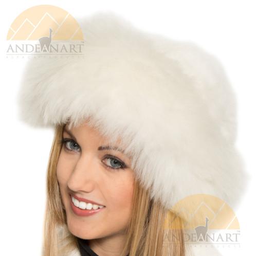 Alpaca Hat - High Quality Alpaca Fur Hat - White