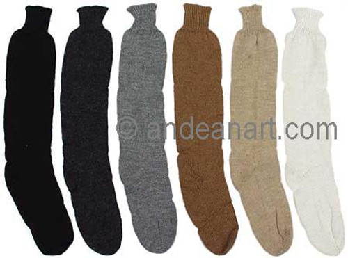 Solid Color Tall Alpaca Socks - Natural - 16713001