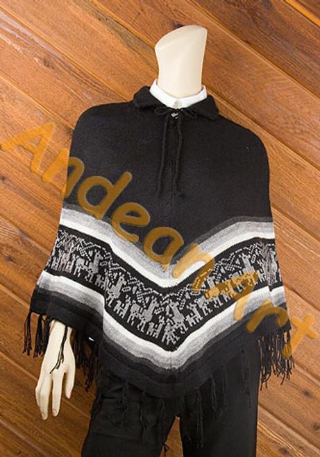 "Wholesale ""Alpaca / Llama Herd"" Motif Alpaca Poncho - 16862202"