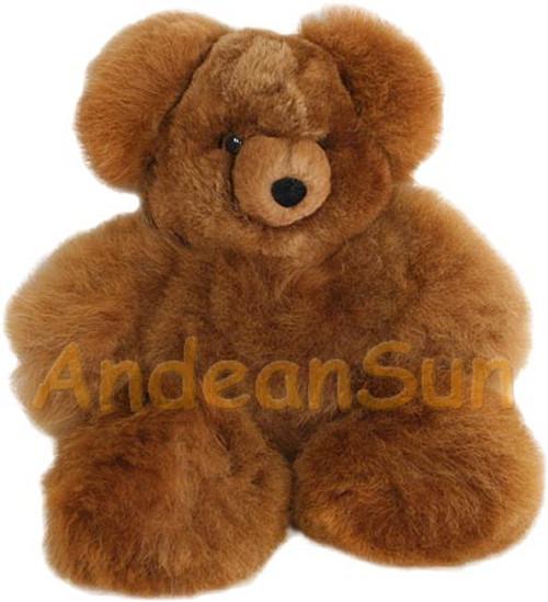 """Medium 15"""" (fur to fur) - 12"""" (hide to hide) Alpaca Teddy Bear"""