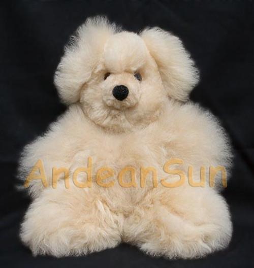 """Small 13"""" (fur to fur) - 10"""" (hide to hide) Alpaca Teddy Bear"""