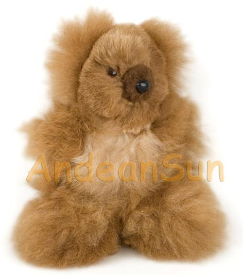 """NEW FOR 2016! Tiny 7"""" (fur to fur) - 5.5"""" (hide to hide) Alpaca Teddy Bear - Mixed Color - 15582012"""