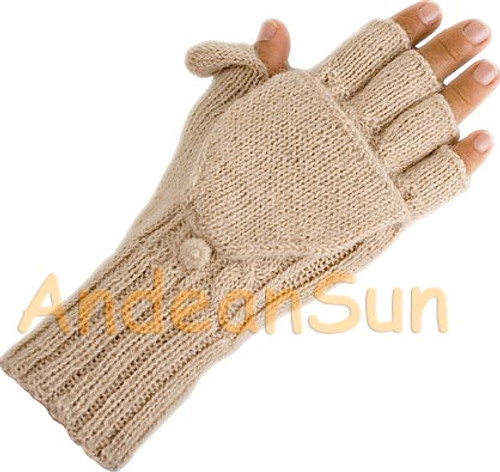 Glittens Hand Finished Double Cable Knit - Beige - 16783208