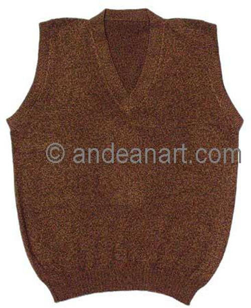 Alpaca Blend V-Neck Vest - US STOCK
